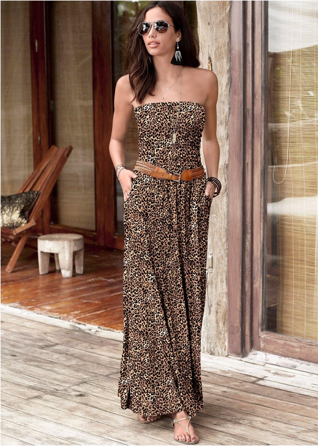 Printed Maxi Dress,Pearl™ By Venus Strapless Bra