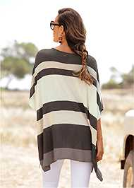 Cropped  view Poncho Sweater
