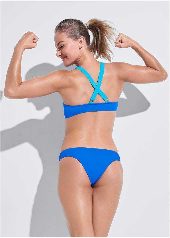 Back View Sports Illustrated Swim™ High Neck Sport Top