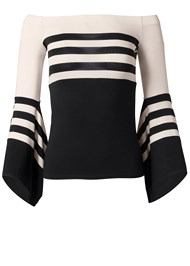 Alternate View Off The Shoulder Striped Top