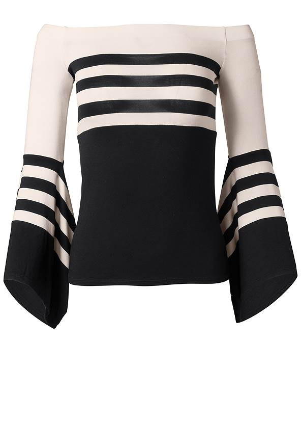 Alternate View Off-The-Shoulder Striped Top