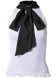 Alternate View Smocked Tie Neck Top