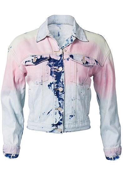 Plus Size Tie Dye Jean Jacket