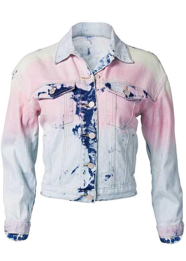 Tie Dye Jean Jacket