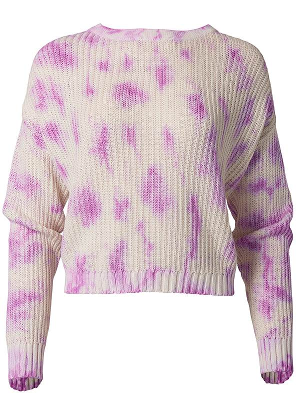 Ghost with background  view Oversized Tie Dye Sweater