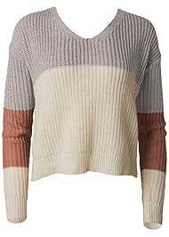Alternate View Twist Back Color Block Sweater