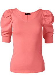Alternate View Puff Sleeve Basic Top