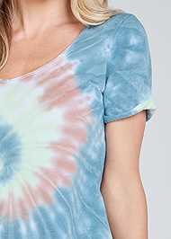 Alternate View Tie Dye Knotted Lounge Dress