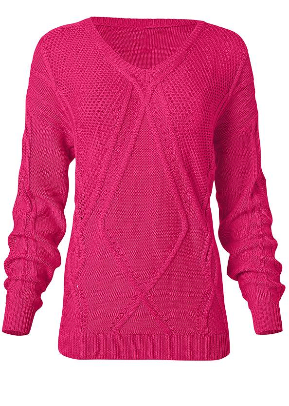 Alternate View Oversized Cable Knit Sweater