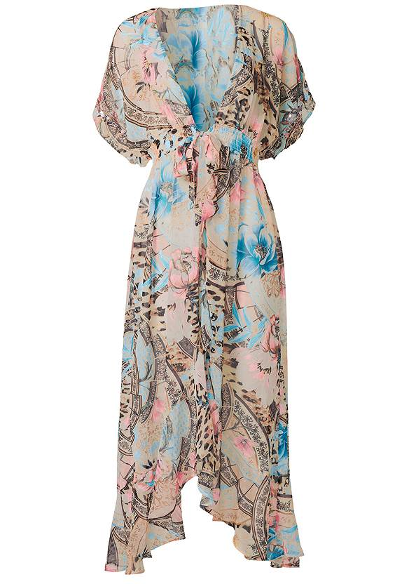 Ghost with background  view Embellished Floral And Paisley Print Maxi Top