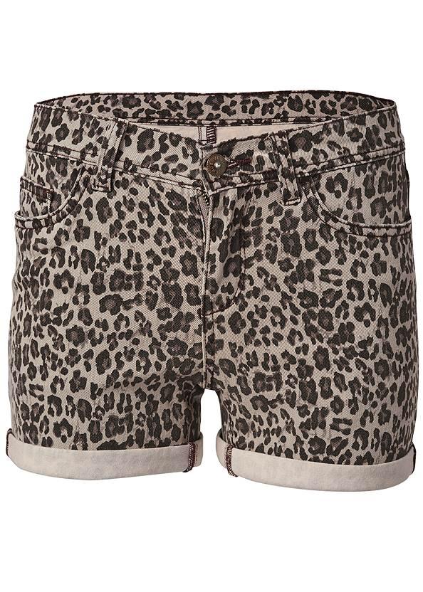 Alternate View Cuffed Leopard Jean Shorts