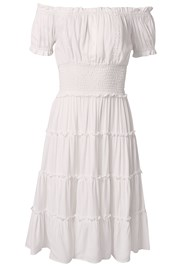Ghost with background  view Off Shoulder Tiered Dress