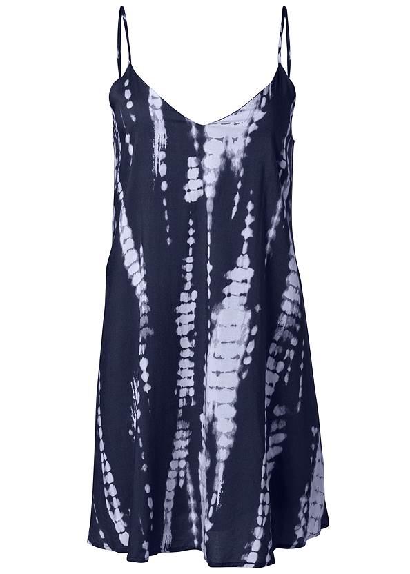 Alternate View Tie Dye V-Neck Shift Dress
