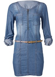 Alternate View Belted Chambray Mini Dress