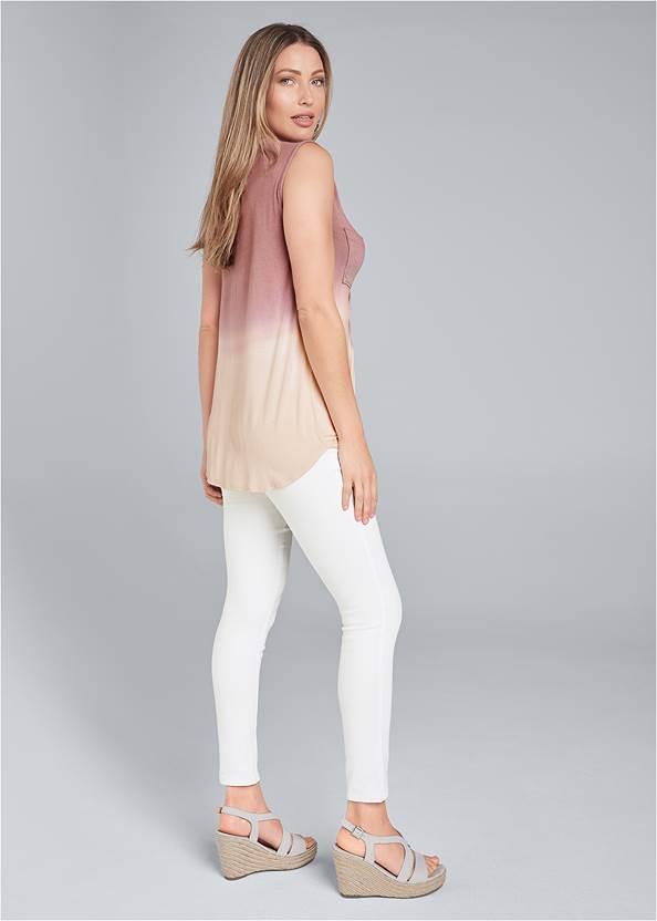 Back View Oversized Ombre Top