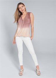 Full front view Oversized Ombre Top