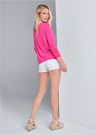 Back View Relaxed Fit Cardigan