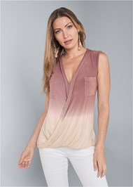 Front View Oversized Ombre Top