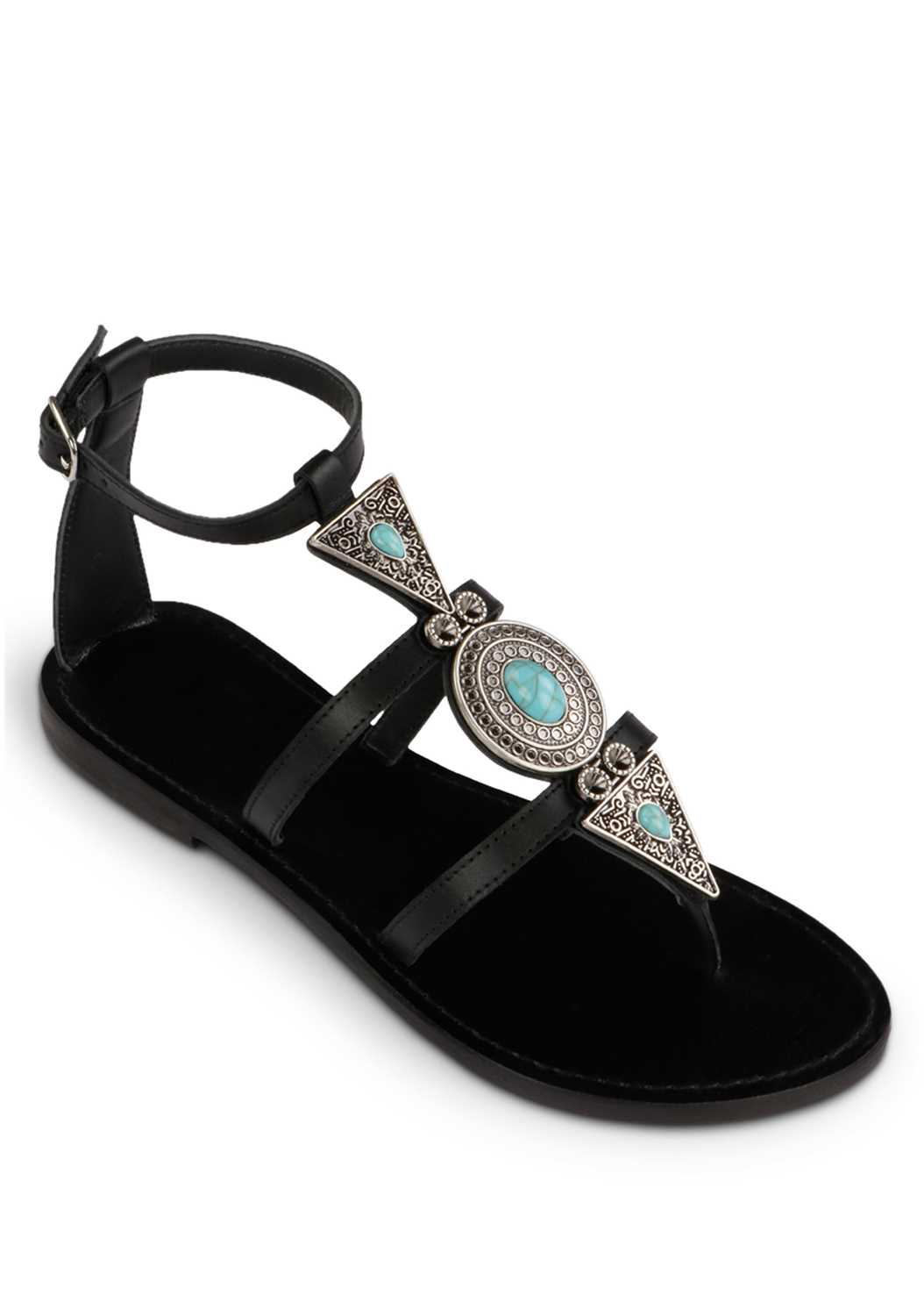 Boho Stone Ankle Strap Sandal