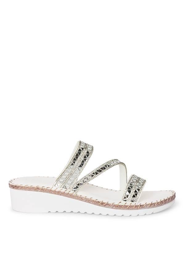 Shoe series side view Comfort Rhinestone Sandals
