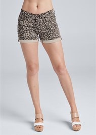 Alternate View Cuffed Leopard Jean Shorts