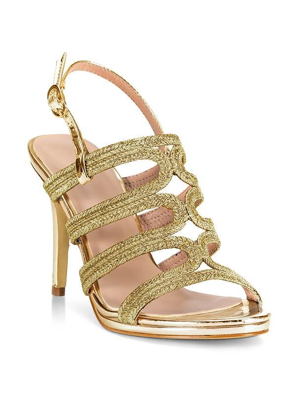 Metallic Rope Heels