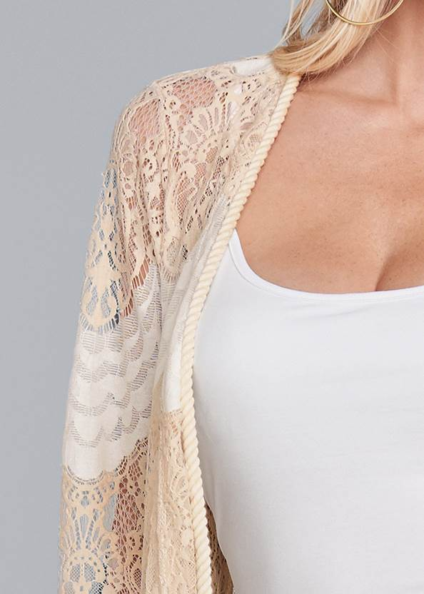 Alternate View Long Lace Topper