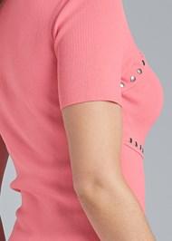 Alternate View Short Sleeve Grommet Sweater