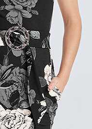 Alternate View Mock Neck Floral Bodycon Dress