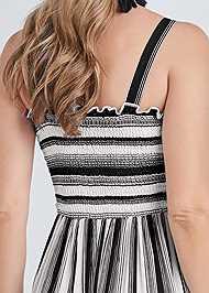 Alternate View Smock Stripe Maxi Dress