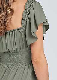Detail back view Flutter Sleeve Tiered Dress