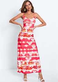 Full front view Batik Printed Maxi Dress