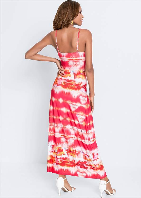 Full back view Batik Printed Maxi Dress