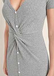Alternate View Brushed Rib Knot Lounge Dress