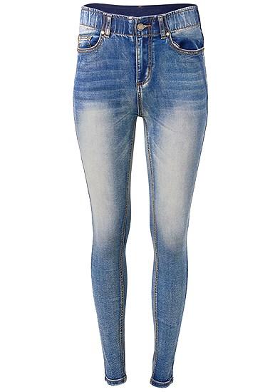 Plus Size Elastic Waistband Jeans