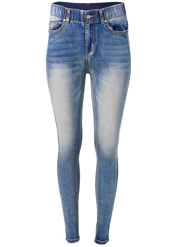 Ghost with background  view Elastic Waistband Jeans