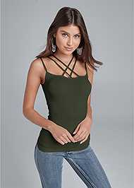 Front View Strappy Seamless Top