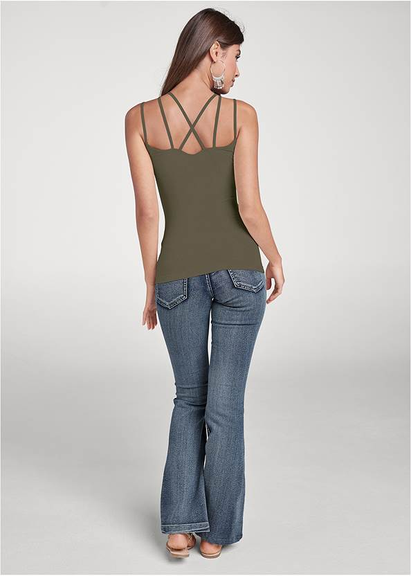 Back View Strappy Seamless Top