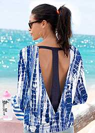 Cropped Back View Open Back Active Top