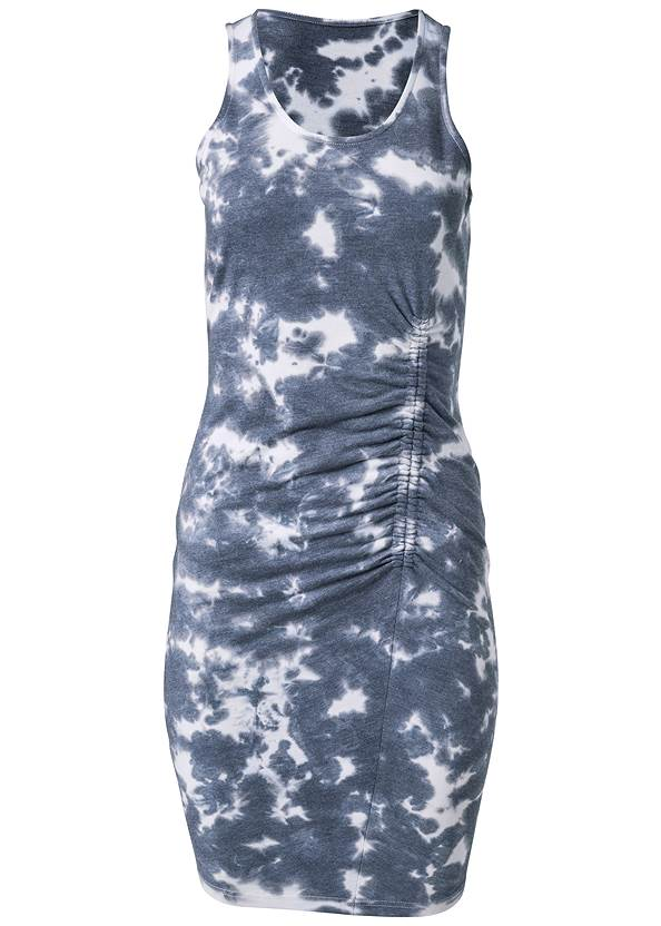 Alternate View Tie Dye Ruched Lounge Dress