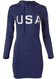 Alternate View U.S.A Hooded Lounge Dress