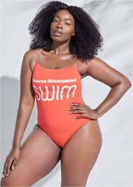 Front View Sports Illustrated Swim™ One-Piece