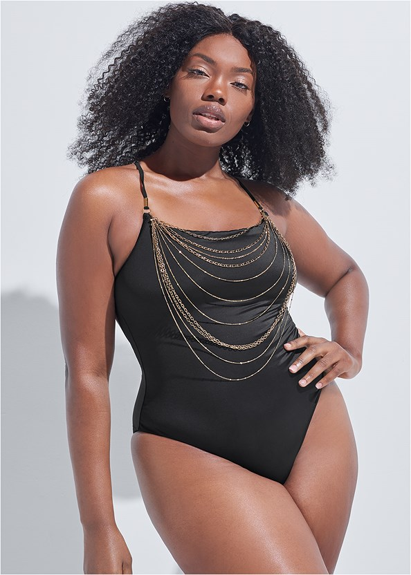 Sports Illustrated Swim™ Necklace One-Piece
