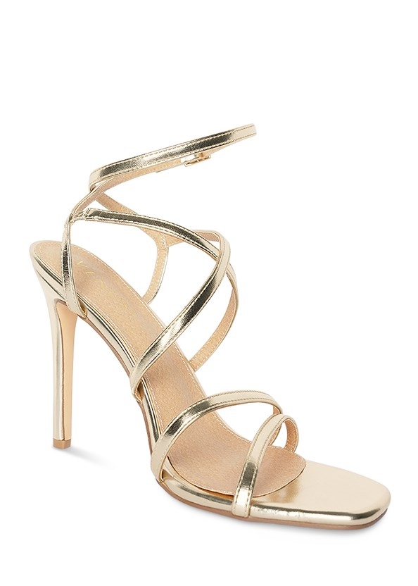 Multi Strap Ankle Wrap Heel