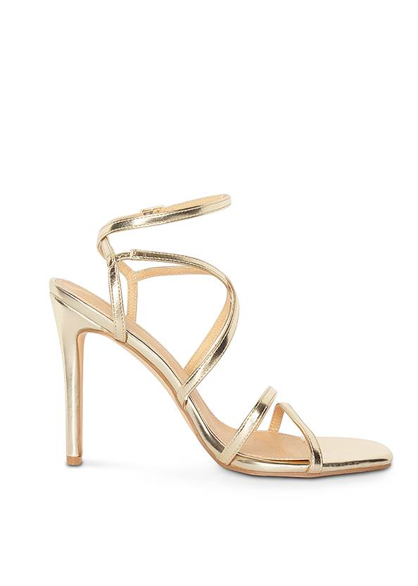Shoe series 40° view Multi Strap Ankle Wrap Heels