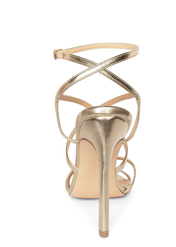 Back View Multi Strap Ankle Wrap Heels