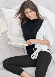 Cropped Front View Color Block Sweatshirt