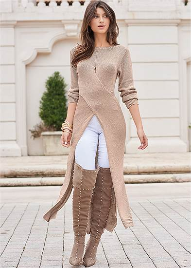 Cross Front Maxi Sweater