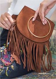 Alternate View Faux Suede Fringe Belt Bag