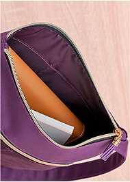 Flatshot  view Faux Suede Crossbody Bag
